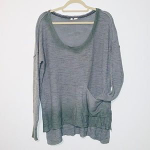 Moth Anthropologie Uptown Boxy Ombré Sweater L